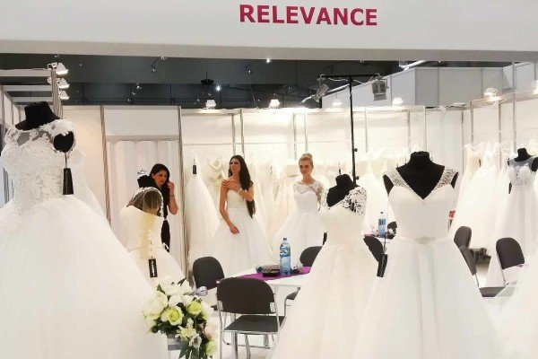 Showroom of Relevance Bridal on bridal fairs